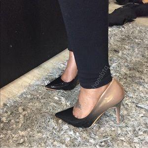 Shoes - Black and Nude Ombré pump